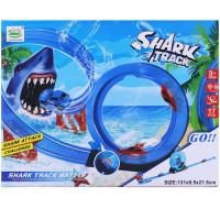 TOY SHARK TRACK W/PULLBACK CAR